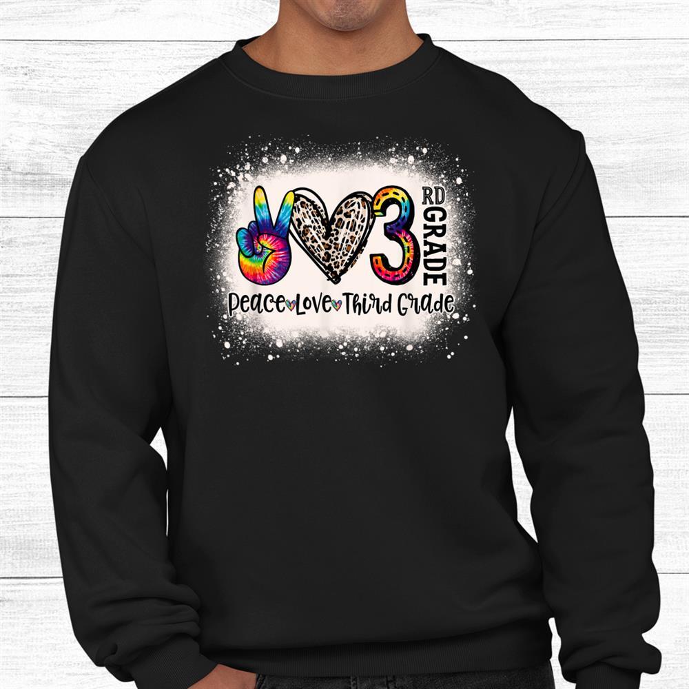 Peace Love 3rd Grade Girls Shirt
