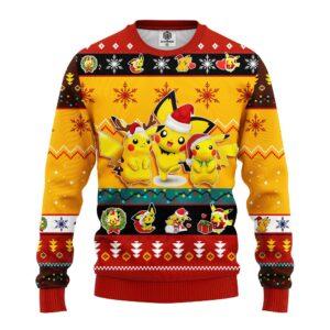 Pikachu Pokemon Ugly Christmas Sweater Yellow