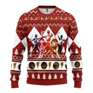 Power Ranger Red Ugly Christmas Sweater
