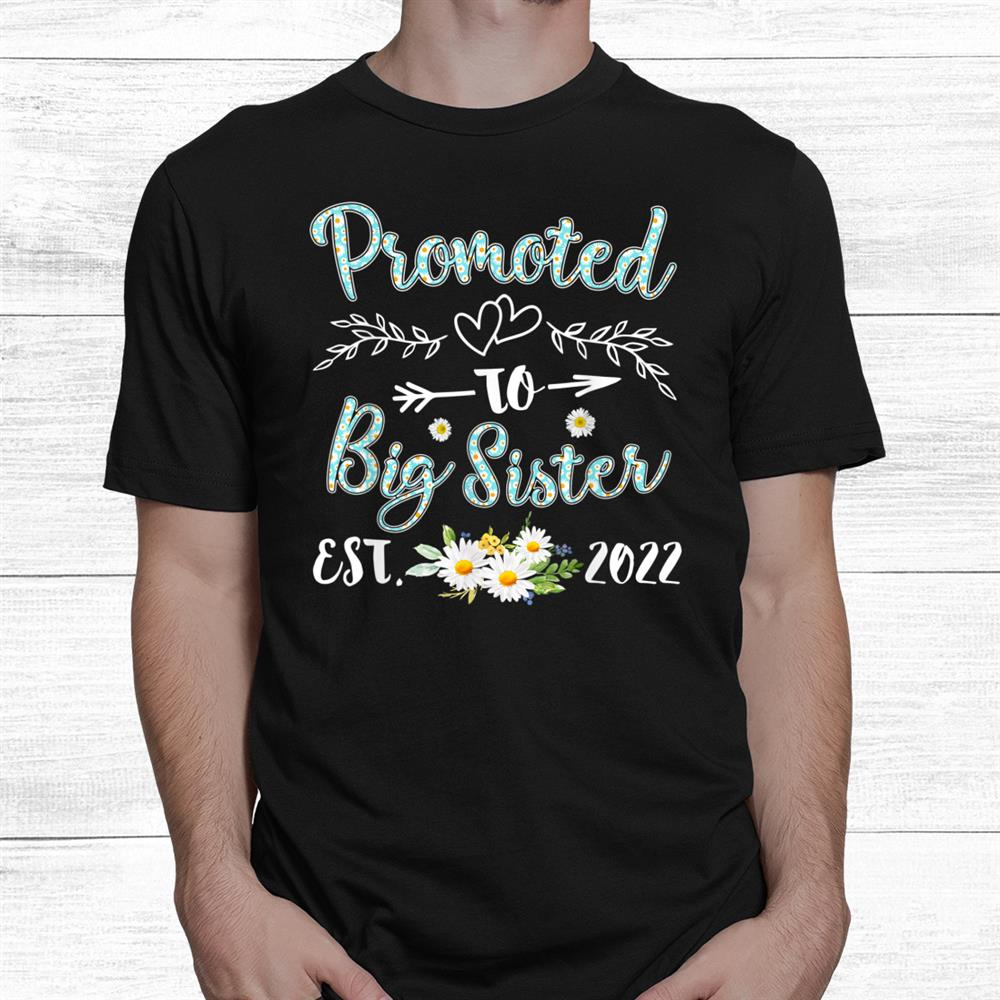 Promoted To Big Sister Est 2022 Shirt