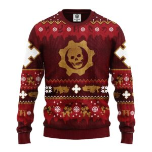 Red Skull Ugly Christmas Sweater