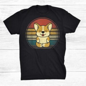 Retro Corgi Yoga Shirt Vintage Corgi Dog Yoga Shirt