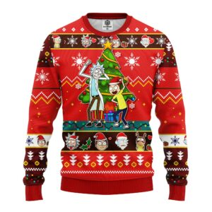 Rick And Morty Noel Ugly Christmas Sweater Red