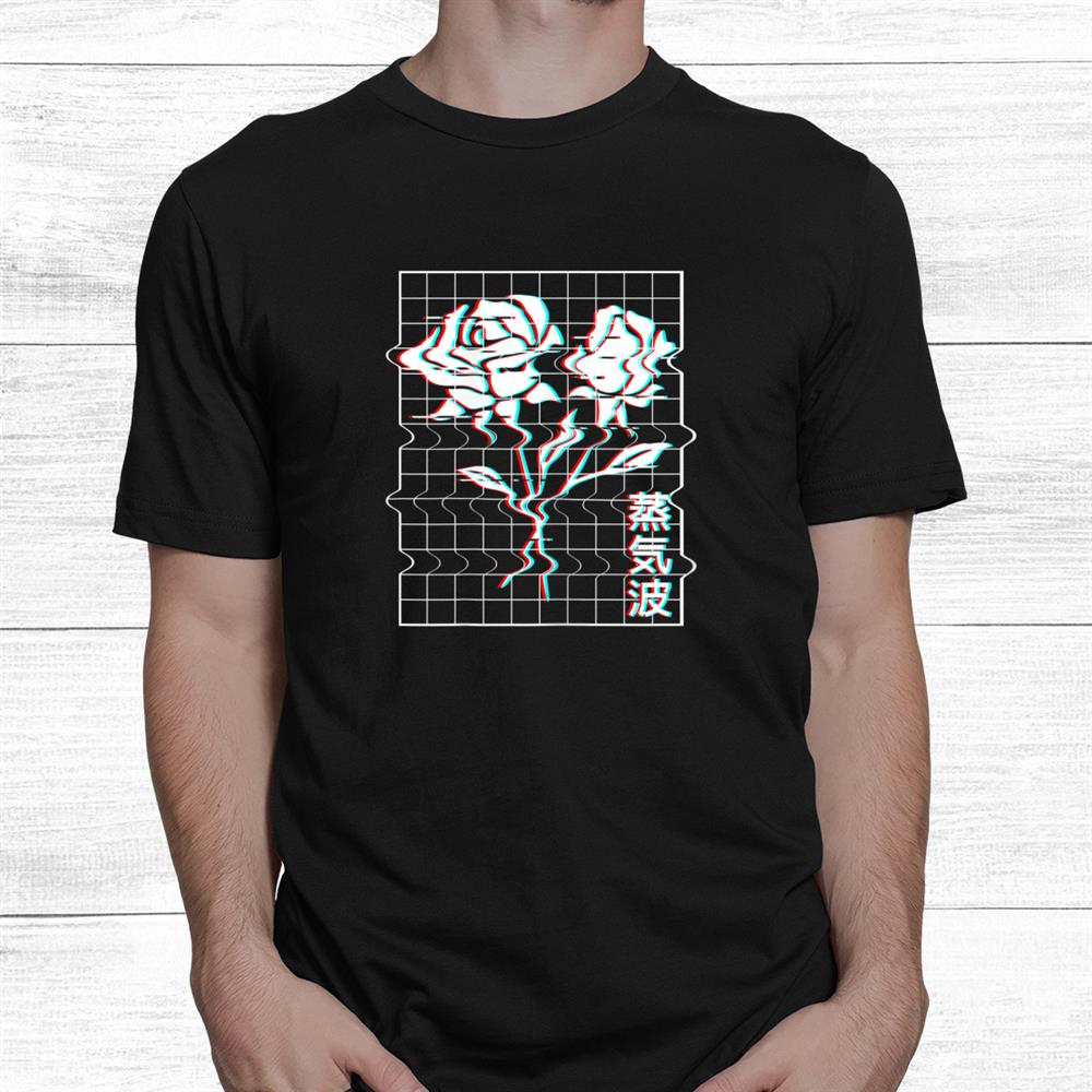 Roses Glitch Shirt