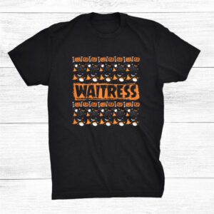 Scary Waitress Ugly Halloween Sweater Costumes Shirt