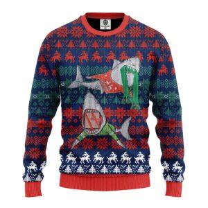 Shark Funny Ugly Christmas Sweater