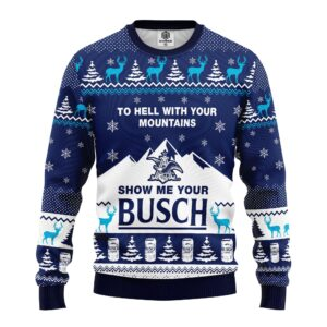 Show Me Your Busch Ugly Christmas Sweater