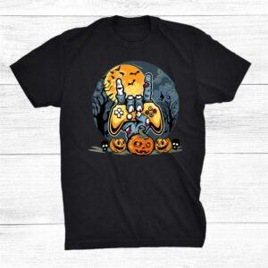 Skeleton Gamer Boys Kids Teens Gaming Vintage Halloween Shirt