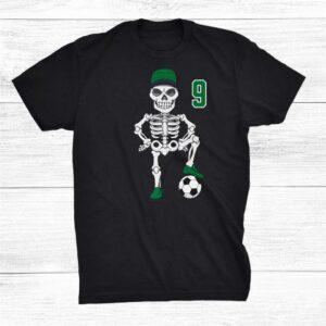 Soccer Skeleton Number 9 Team Shirt