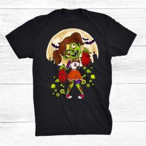 Spooky Halloween Costume Zombie Cheerleader Shirt
