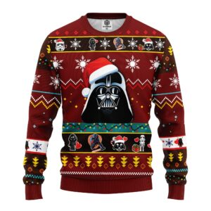 Star Wars Dark Vader Ugly Christmas Sweater Red
