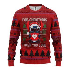 Stitch Heart Ugly Christmas Sweater
