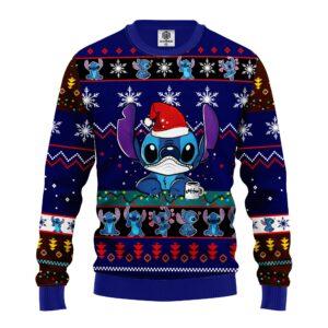 Stitch Ugly Christmas Sweater Blue