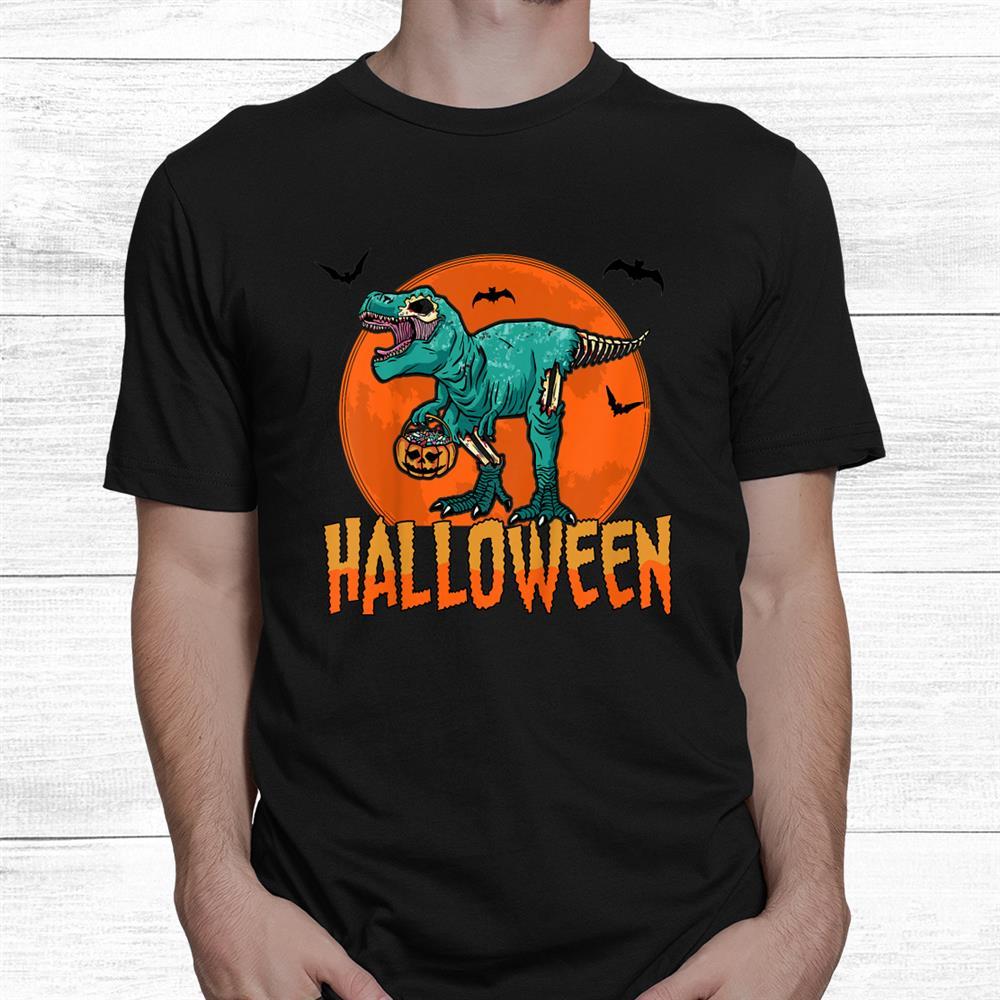 T Rex For A Creepy Evening With Friends Halloween Shirt