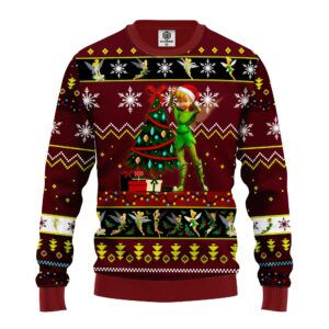 Tinker Bell Ugly Christmas Sweater Red