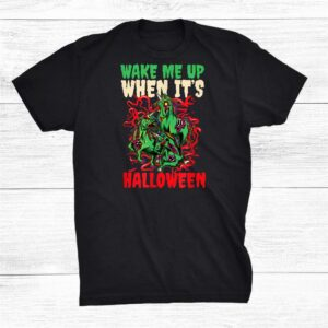 Wake Me Up When Its Design Halloween Unicorn Shirt