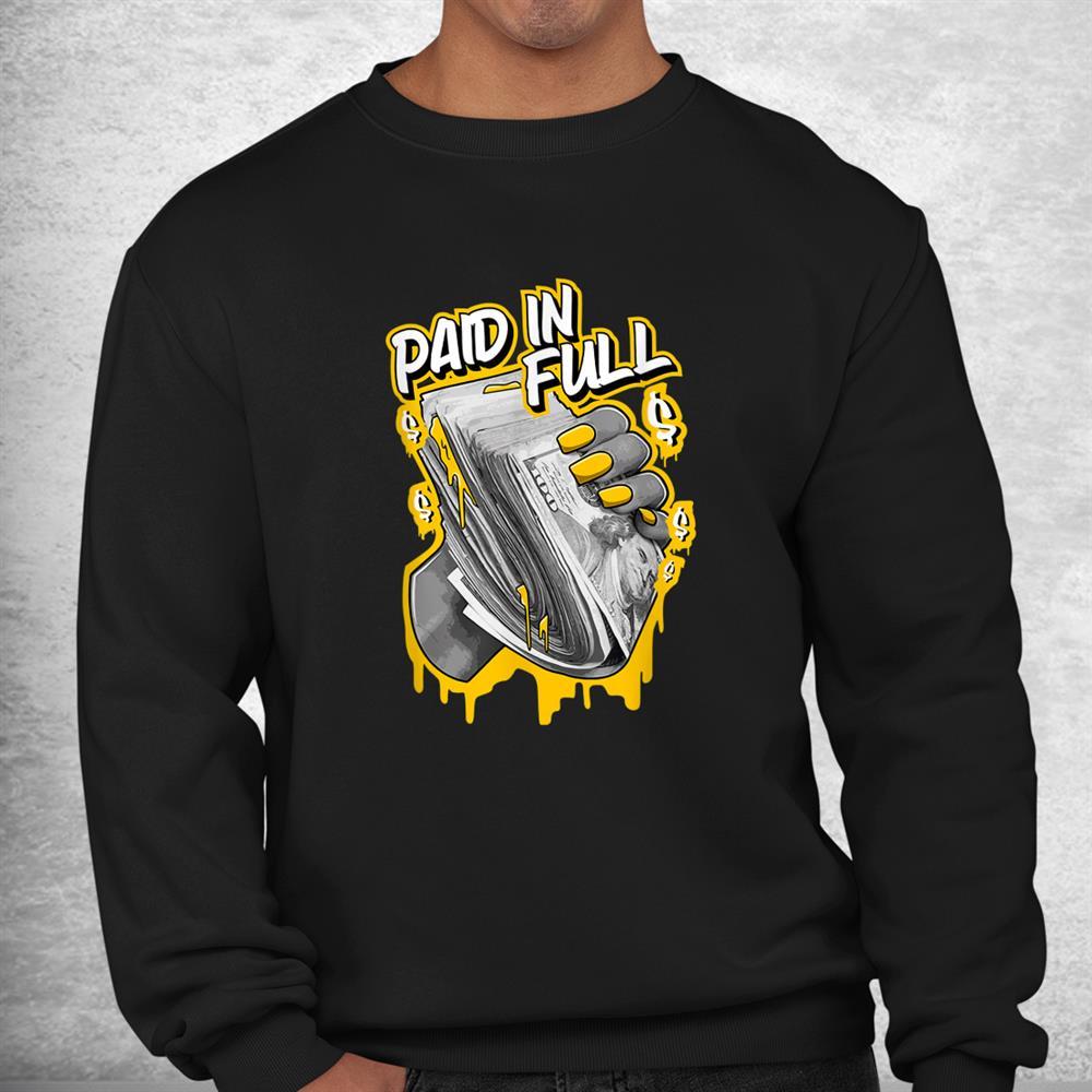 1 High Og Pollen Sneaker Match Tees Paid In Full Halloween Shirt