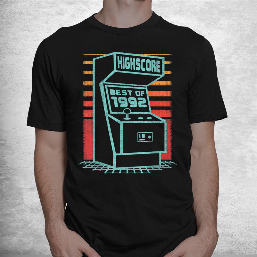 1992 Birthday Best Of Born In Birth Year Retro Vintage Gamer Shirt