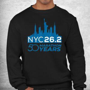 50th nyc marathon day new york city vintage sports 2021 shirt 2