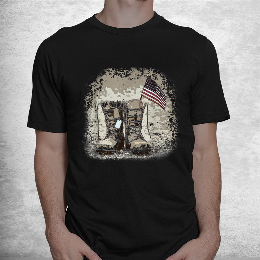 American Flag And Boots Shirt