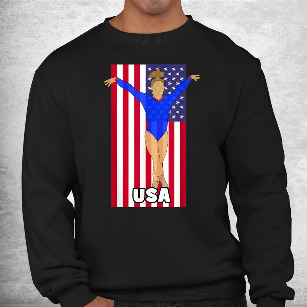 American Flag Gymnastics Fan Usa 2021 Shirt