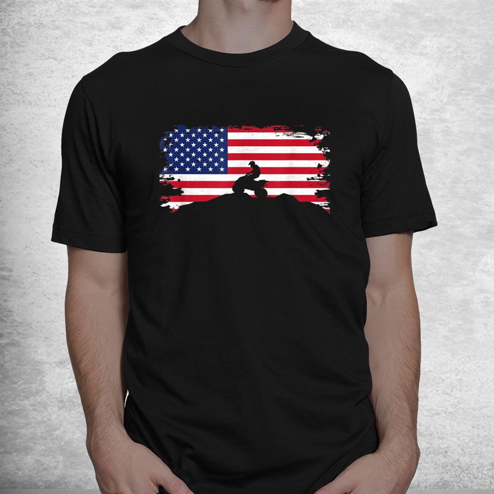 American Flag Quad Atv Apparel Off Roading Off Road Atv Shirt