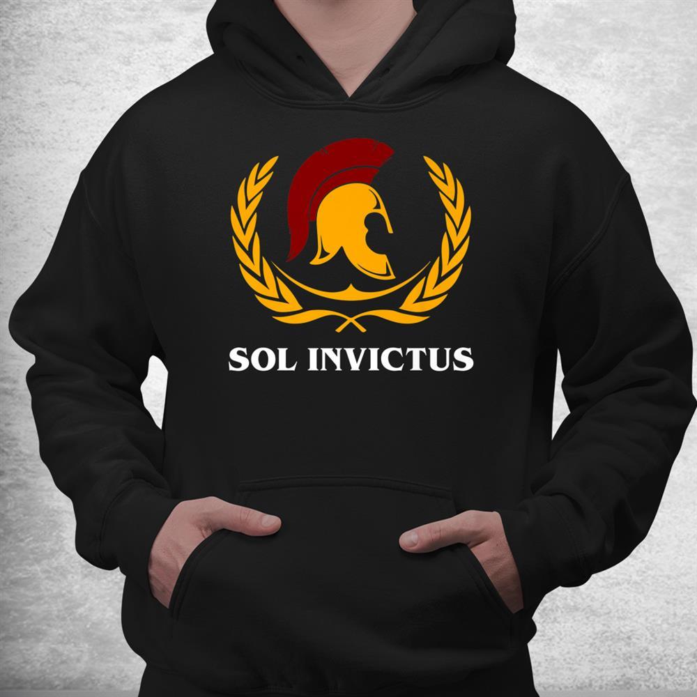 Ancient Roman Mythology Sol Invictus Roman Eagle Spqr Shirt