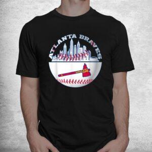 atlanta baseball distressed game day brave vintage fan lover shirt 1