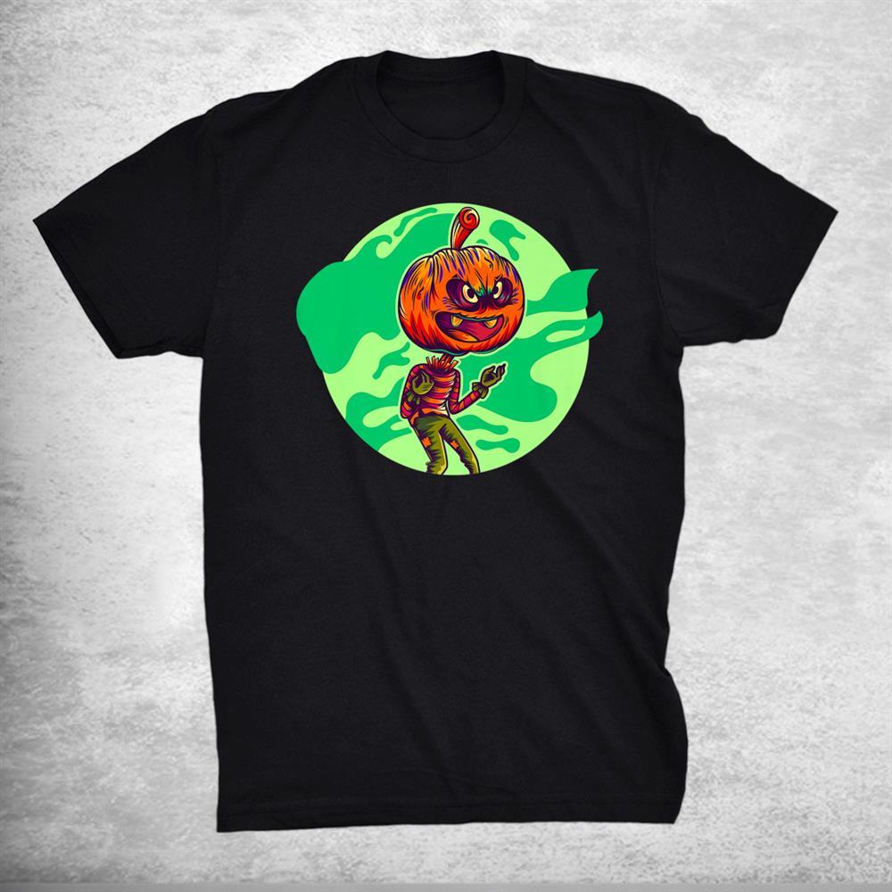 Awful Pumpkin Zombie Graphic Halloween Shirts Fun Halloween Shirt