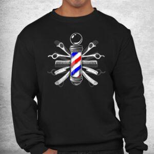 barbers pole barber hairdresser hair stylist shirt 2