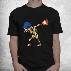 baseball dabbing skeleton lazy diy halloween costume sport shirt 1