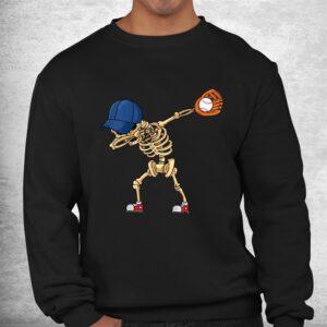 baseball dabbing skeleton lazy diy halloween costume sport shirt 2