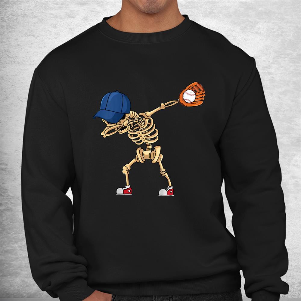 Baseball Dabbing Skeleton Lazy Diy Halloween Costume Sport Shirt