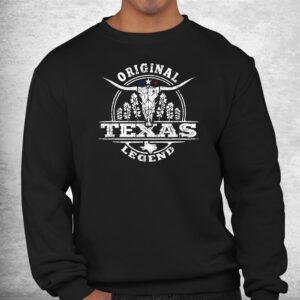 bluebonnet longhorn bull tx legend original born in texas shirt 2