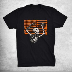 Bones And Pumpkins American Flag Skeleton Halloween Costume Shirt