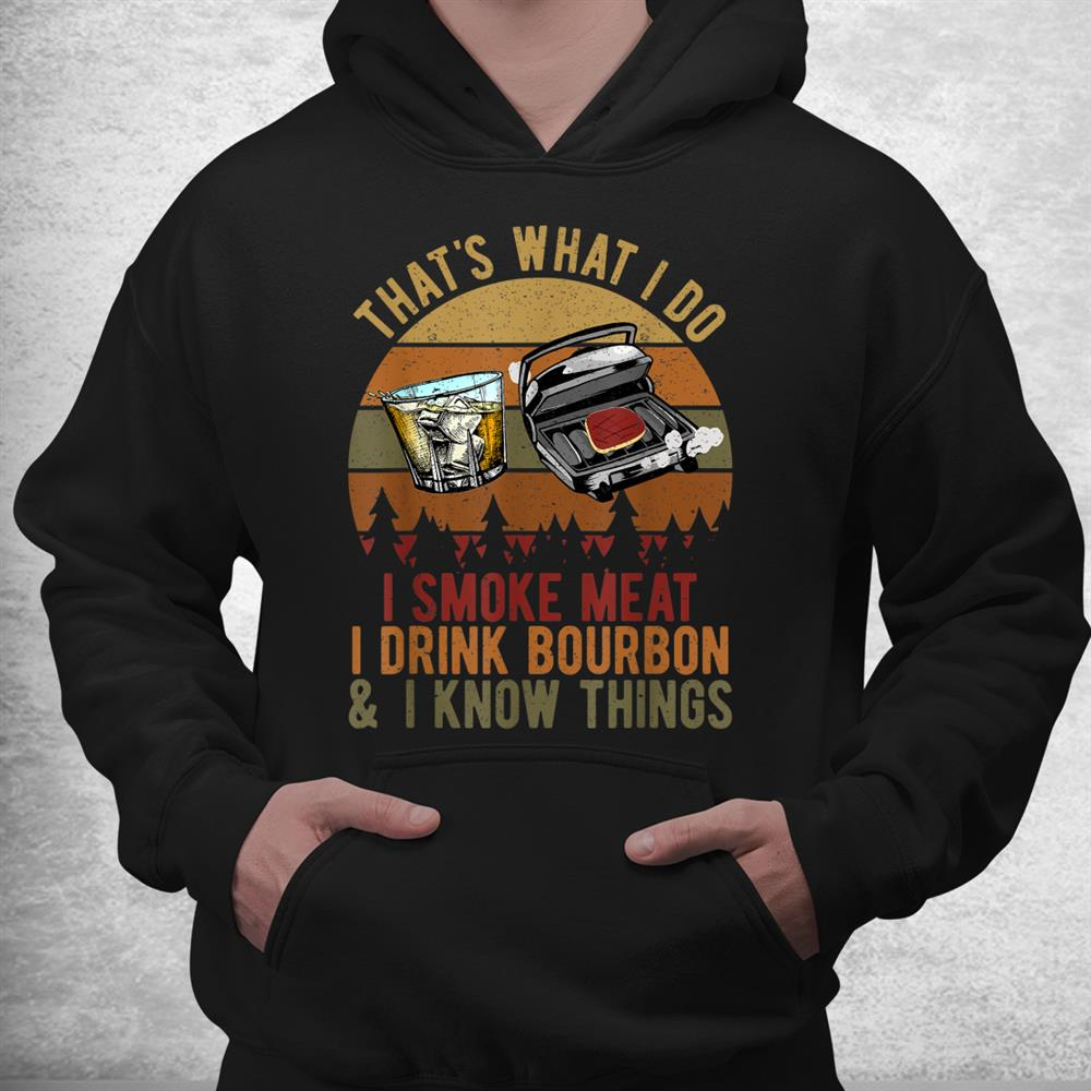 Borubon Whisky Meat Smoking Smoker Bbq Grill Shirt