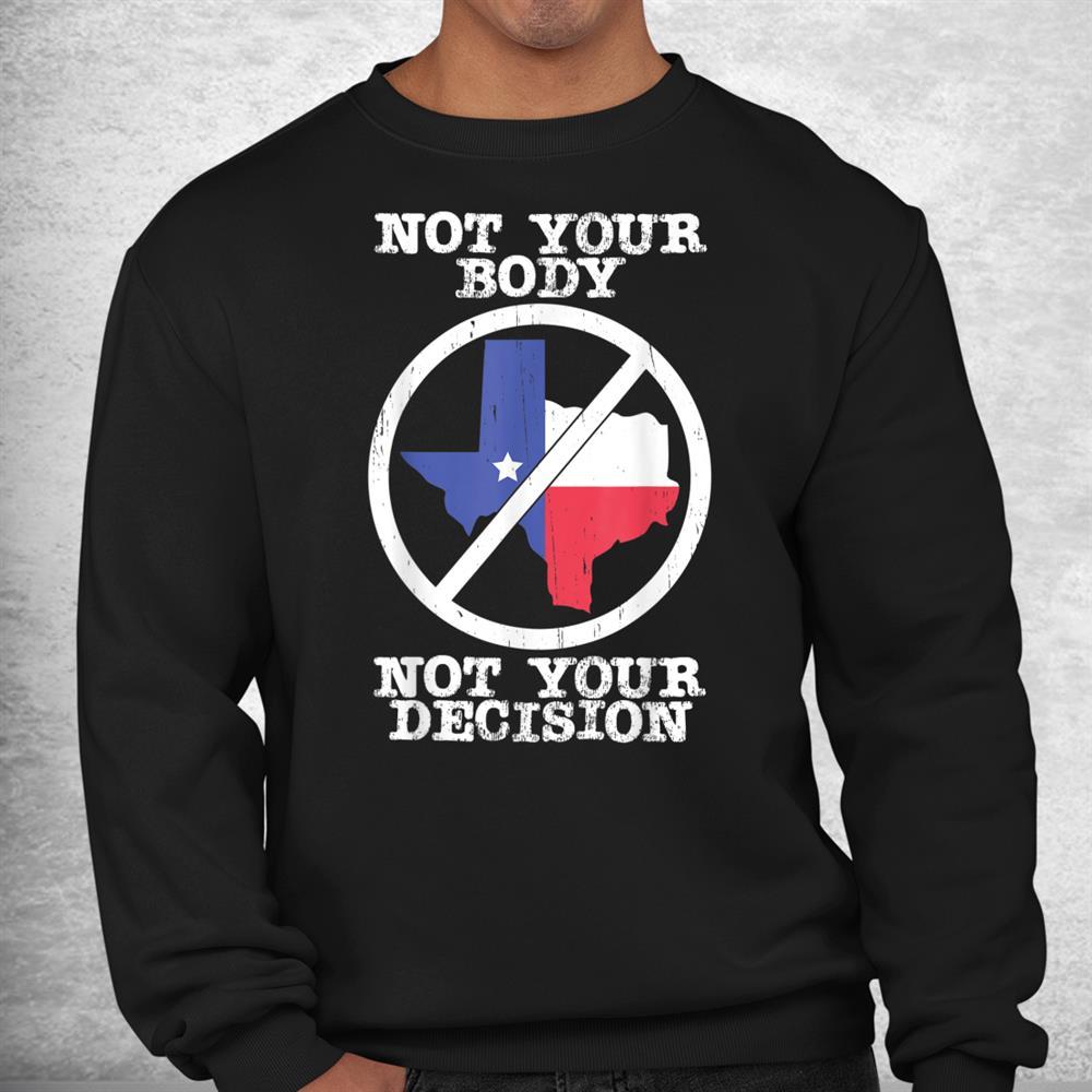 Boycott Texas Anti Texas My Body My Choice Her Body Her Law Shirt