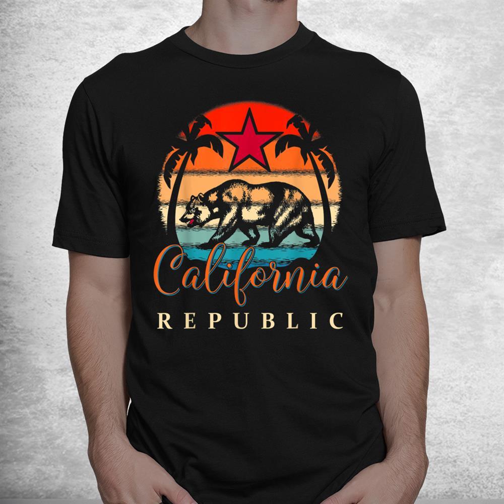 California Republic Socal Norcal Flag Cencal Cali Vintage Shirt