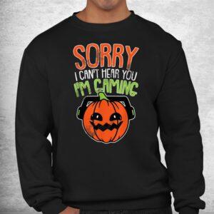 cant hear you im gaming lazy diy halloween costume gamer shirt 2