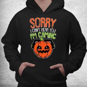 cant hear you im gaming lazy diy halloween costume gamer shirt 3