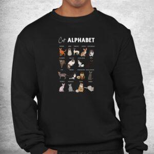 cat alphabet cute cat breed design unisex cat lover shirt 2