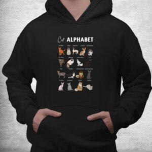 cat alphabet cute cat breed design unisex cat lover shirt 3