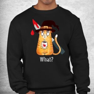 cat what murderous witch cat with knife halloween costume shirt 2