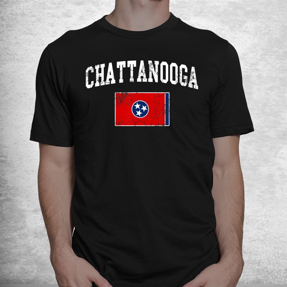 Chattanooga Tennessee Flag Home Vintage Faded Distressed Shirt