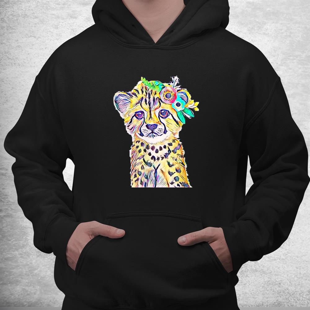 Cheetah Motif Predator Cat Animal Colorful Cheetahs Shirt