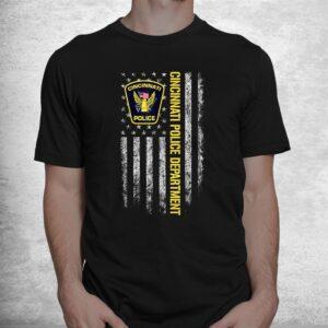 cincinnati police department american flag shirt 1