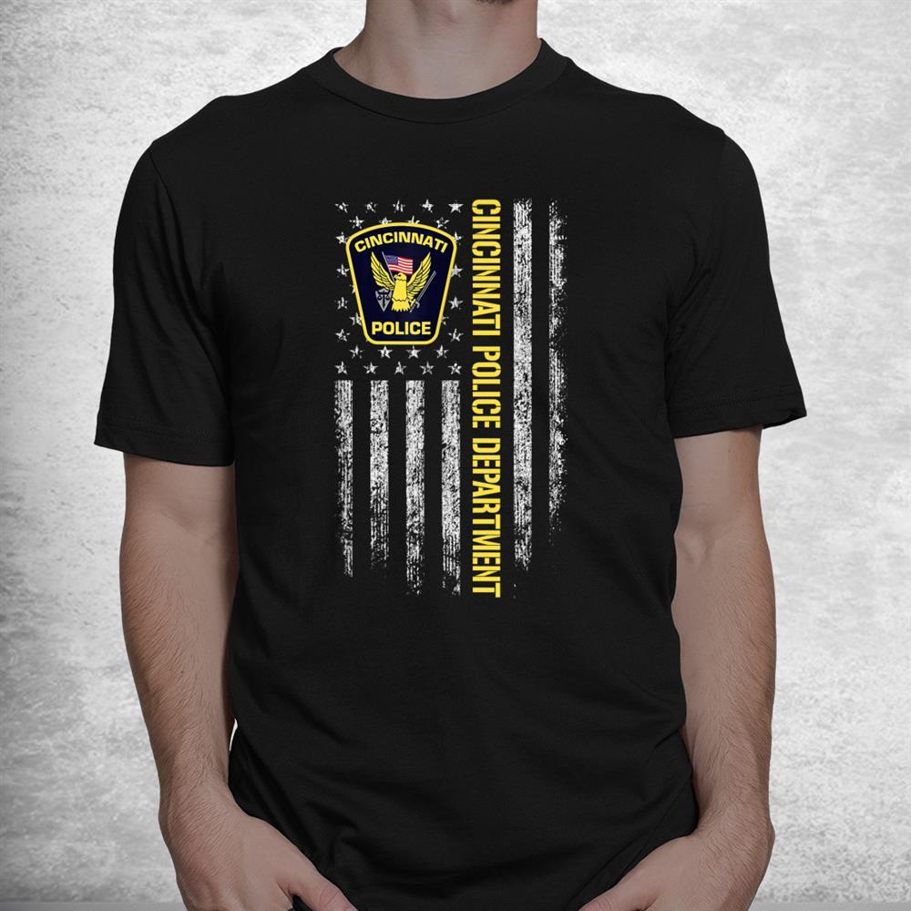 Cincinnati Police Department American Flag Shirt