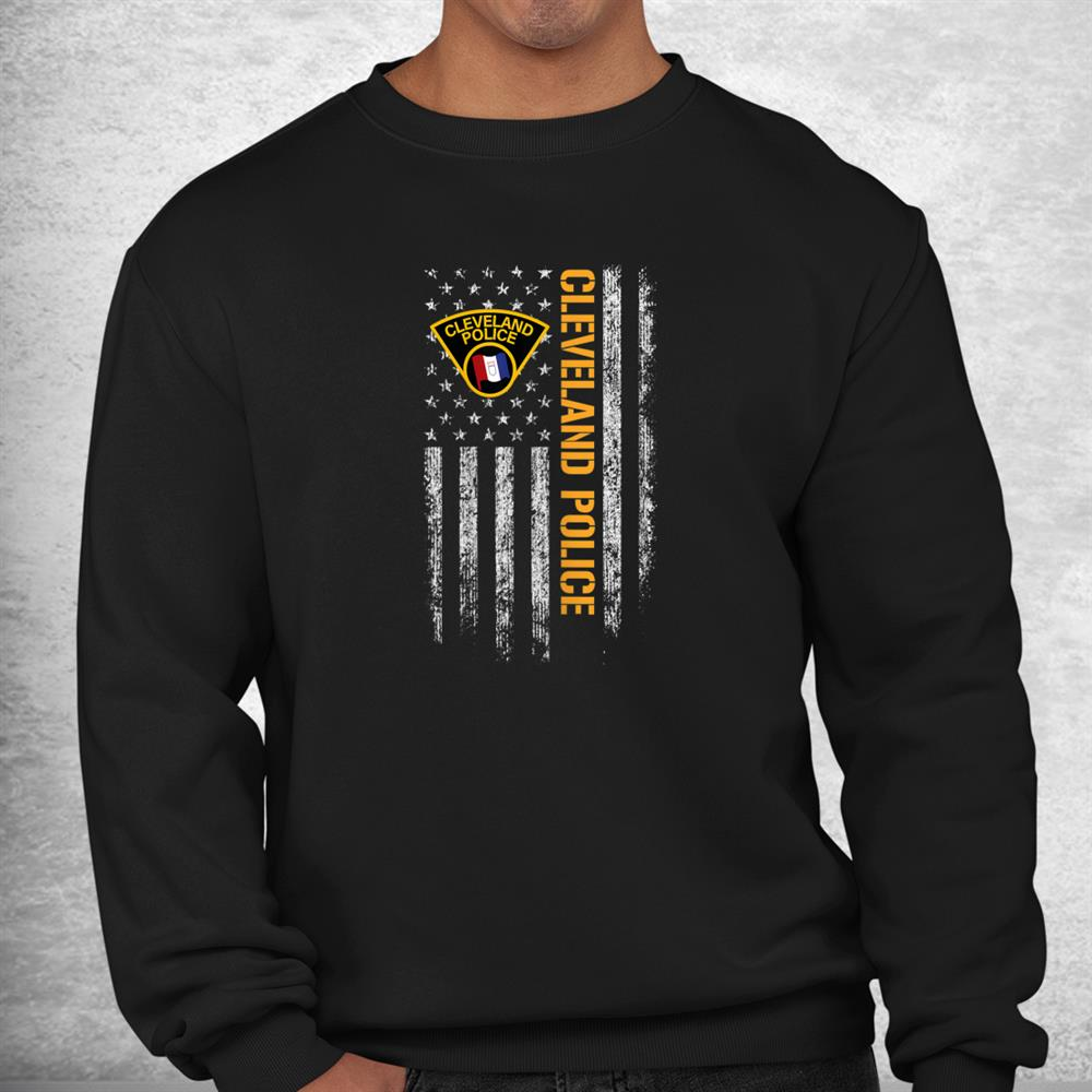 Cleveland Police Department American Flag Shirt