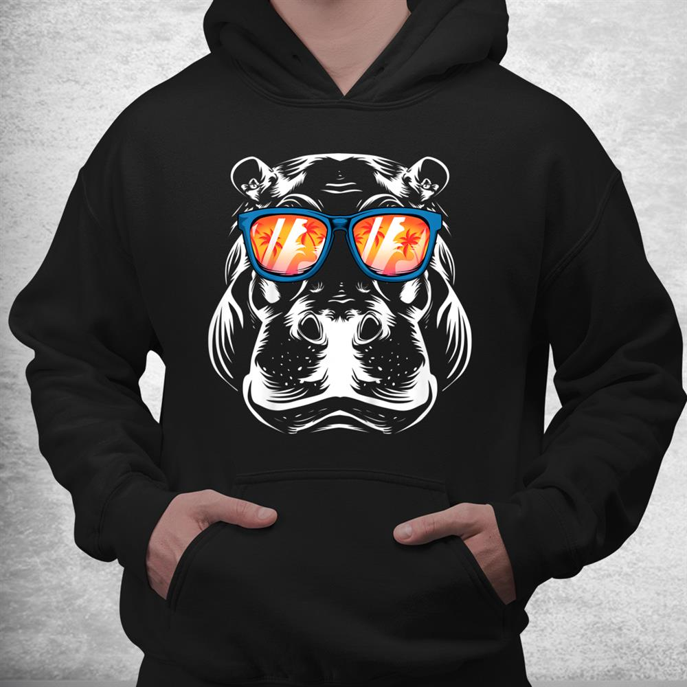 Cool Hippopotamus Hippo Zoo Day Animal Lover Shirt