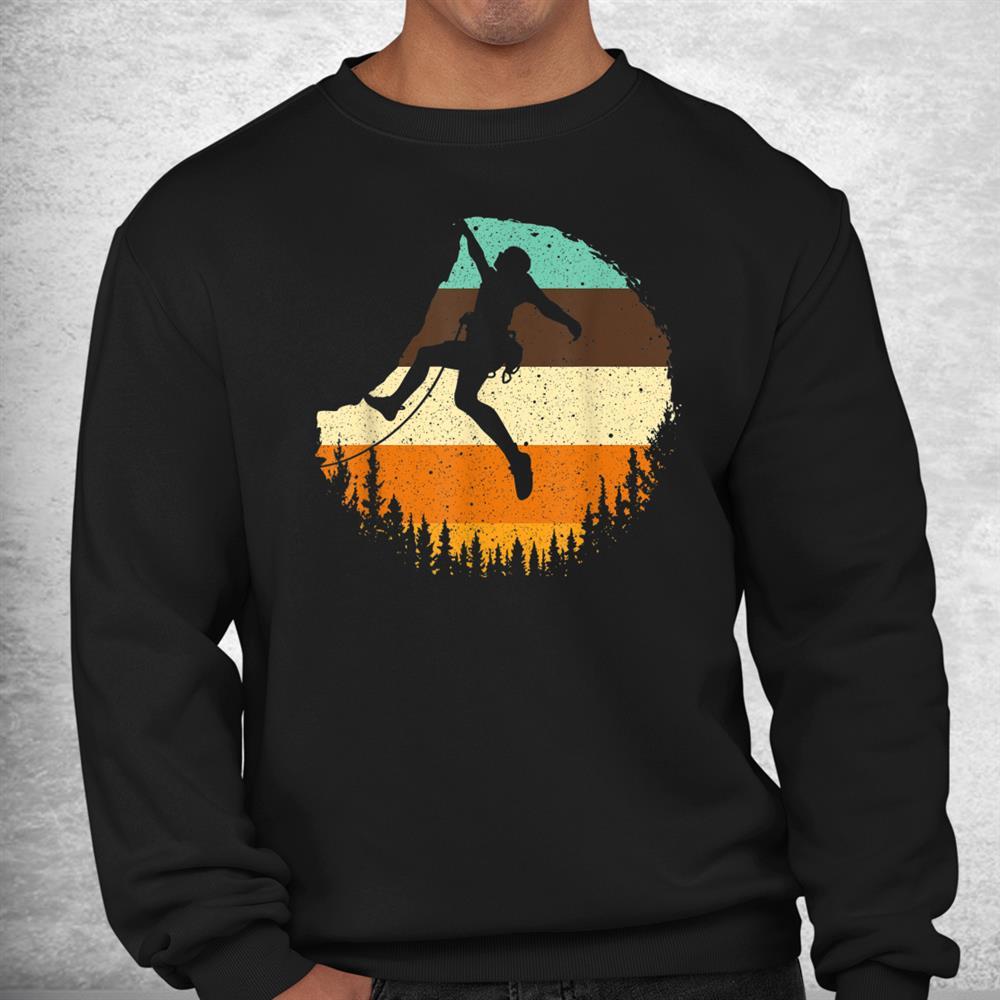 Cool Rock Climbing Mountain Climber Bouldering Shirt